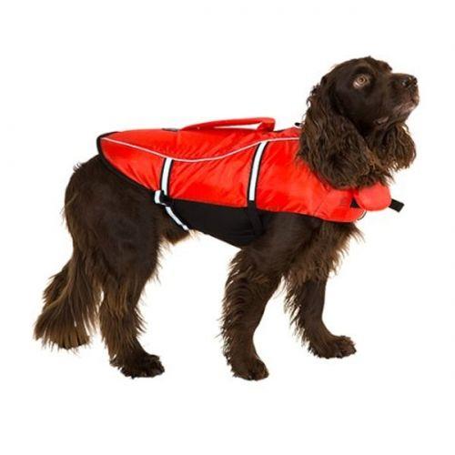 Flytevest til hund. Gjør at både du og hunden kan være trygge. Både ved vannet og i vannet. Dette er billige og gode flytevester! Du finner dem i vår dyrebutikk på nett