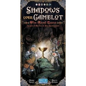 Shadows Over Camelot: The Card Game  I've heard great things about the board game version of this game, but the complexity and 60-90 minute playtime always put me off. This one plays in under half and hour and is a lot of fun.