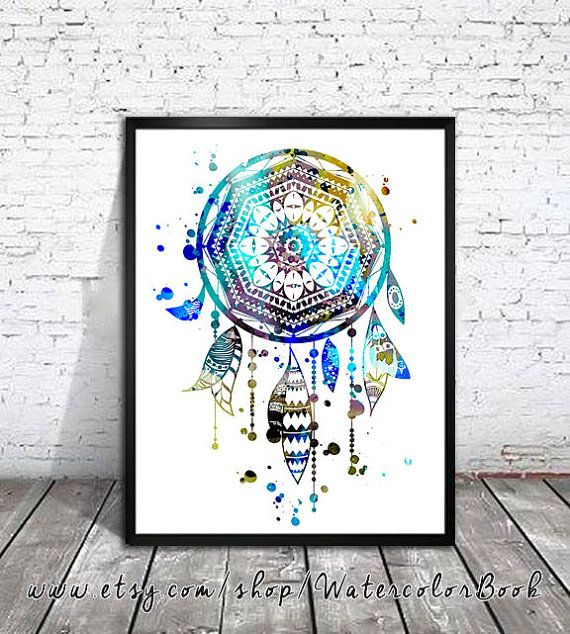 Dream Catcher 4 Watercolor painting art Print, dream catcher art, dream catcher Illustration, Home Decor, dream catcher poster, Buy two Get one