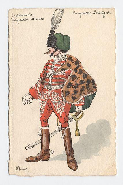 Oesterreich-Ungarische Armee Ungarische-Leib-Garde (1900-1912) Ronni by peacay, via Flickr From Bibliodyssey