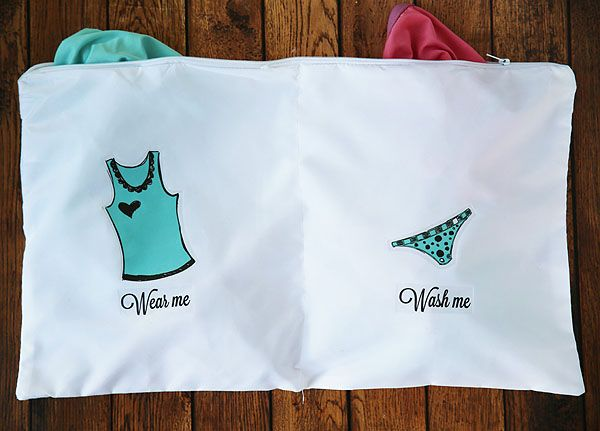 How to create a wear me wash me lingerie bag - perfect for taking on trips!