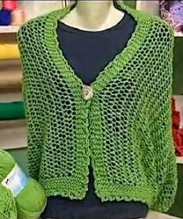 Receita de Tricô: Cachecol-Colete em tricô por Vitória Quintal