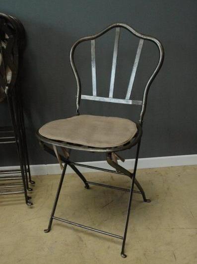 Set of six antique folding metal garden chairs c.1890- 1900