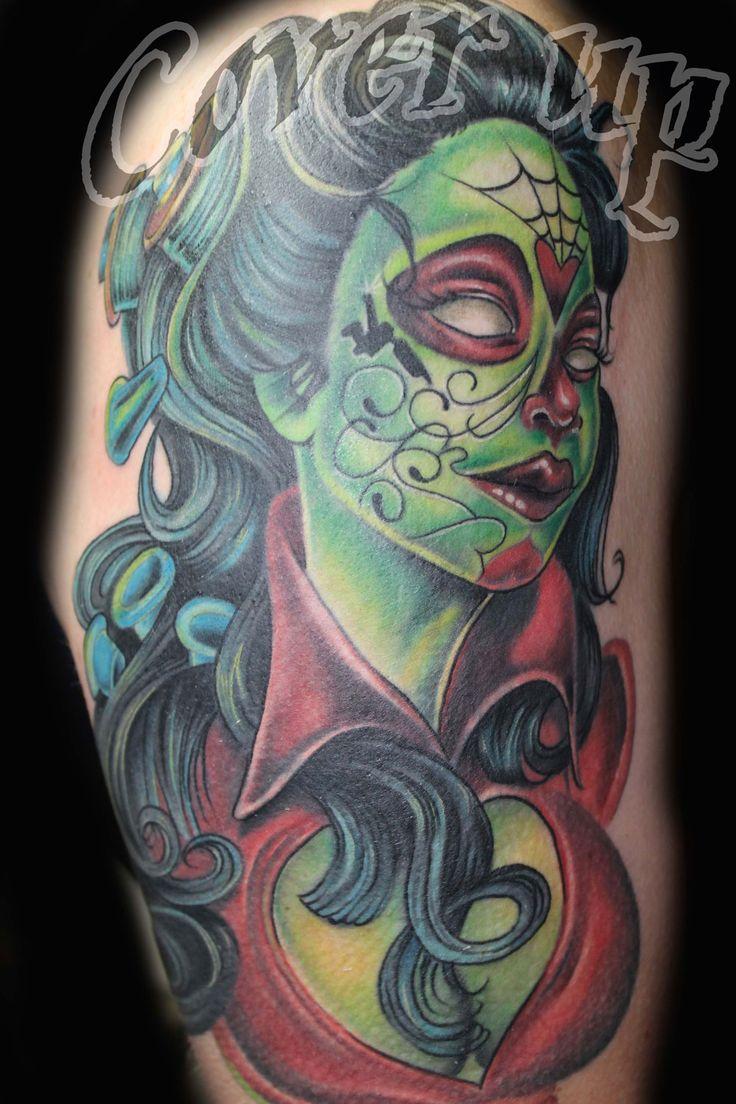 zombie girl tattoo ile ilgili görsel sonucu