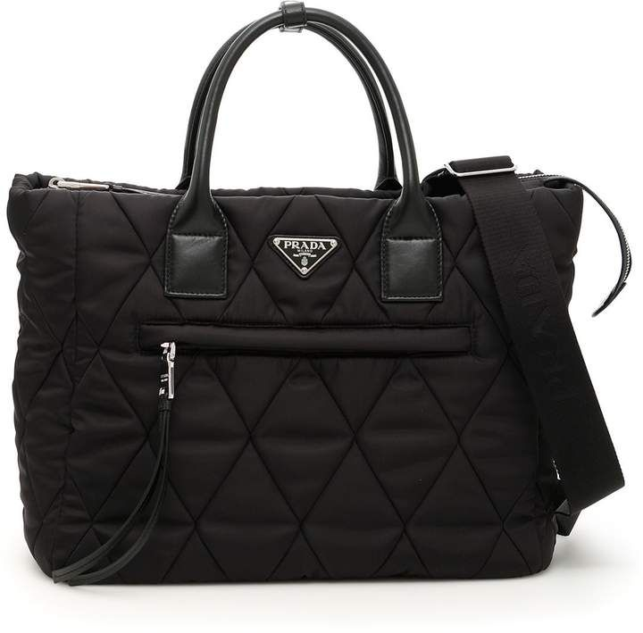 98e211b4ba9079 Quilted Nylon Shopping Bag #jacquard#logo#fabric | Women Fashion ...