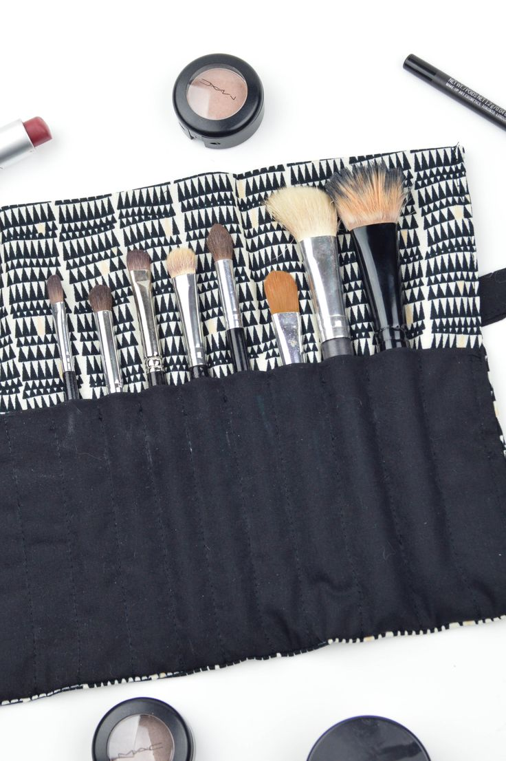 DIY   How to Sew a Travel Makeup Brush Roll - Revamperate