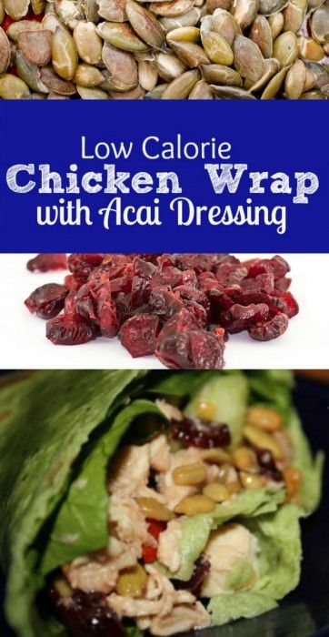 Simple to prepare and so delicious Acai Chicken Wrap recipe. The best part is you can make this ahead.
