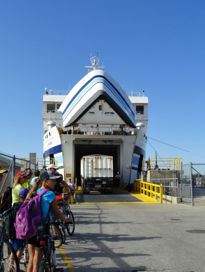 Ferry from Leamington to Pelee Island, Ontario, Canada.