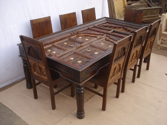 Antique Reproduction Dining Table Chairs3