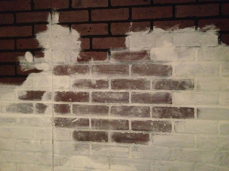 19 best faux brick wall ideas images on pinterest faux - Fake brick wall covering interior ...