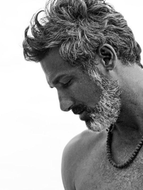 Italian Boy Name: Jme Stein, Handsome Gray Haired Male Model