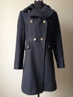 Save 75% Anne Klein Military Coat, Size 6  New with tags – price missing from tag but provided by supplier  Original retail $179.99 + tax  Our Price:  $50