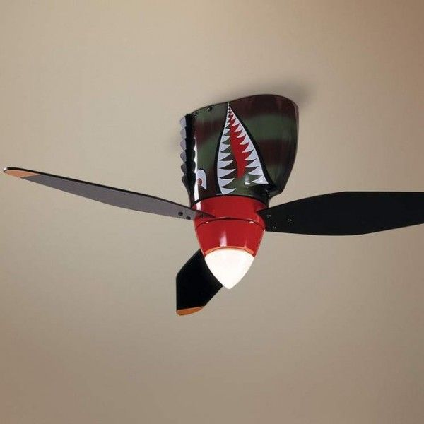 Warplane Tiger Shark Ceiling Fan Home Caves And Boy Rooms