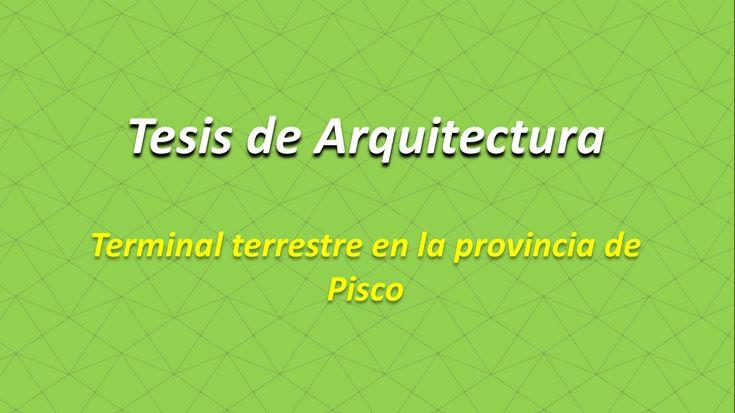 """Tesis de Arquitectura Terminal terrestre en la provincia de Pisco http://hdl.handle.net/10757/622546 Temas: Edificios de transportes; Proyectos arquitectónicos; Perú"""""""