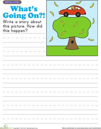 Worksheet family write a story