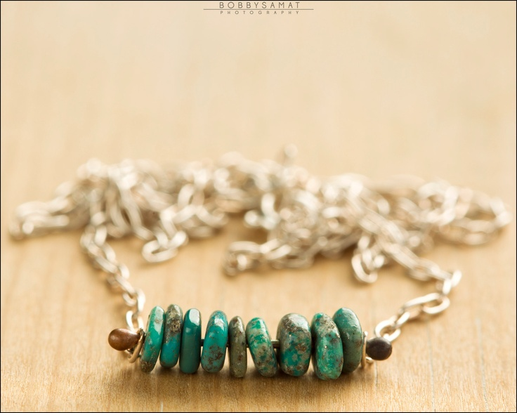Sterling Silver Turquoise Necklace - Jewelry by Jason Stroud.