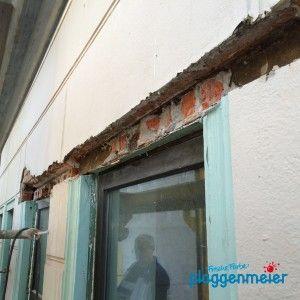 Bei der Sanierung von Fensterstürzen greift unserer Maurer in die Bausubstanz ein - Malermeister Bremen