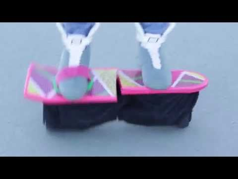 Marty McFly Halloween Costume 2015 with Real-ish Hoverboard - YouTube
