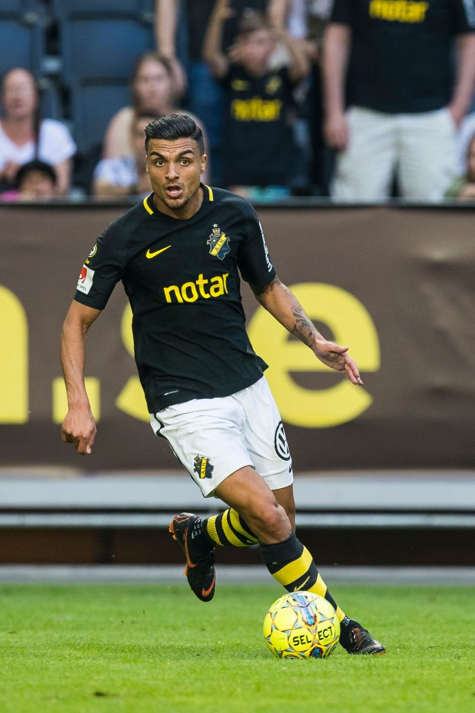 Ahmed Yasin Of Aik Runs With The Ball During An Allsvenskan Match Running Match Ball