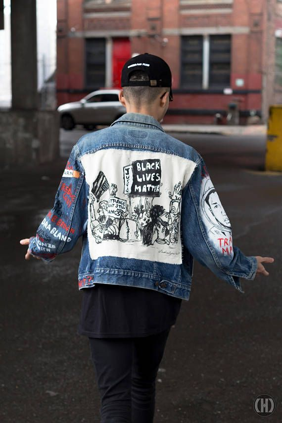 Black Lives Matter – Denim Jacket – One-of-a-Kind Jacket – BLM – Apparel