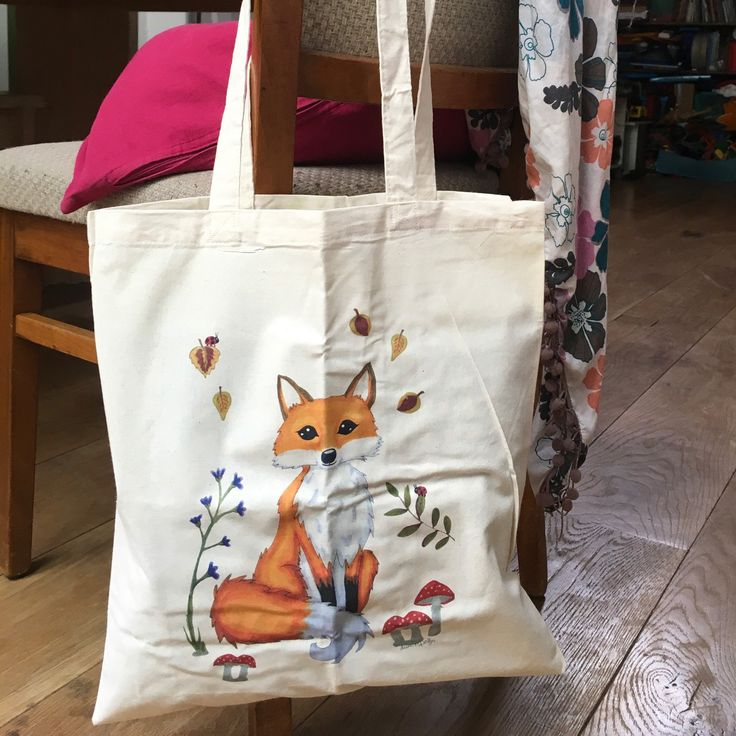 Looking for the perfect gift?  This Fox totebags is so cute! Lovely totes for your groceries books and more! Visit lumisadesign for more cute totes And prints.