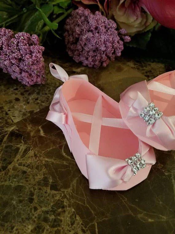 Conjunto de diez rosa Bling bailarina zapato favores / zapato