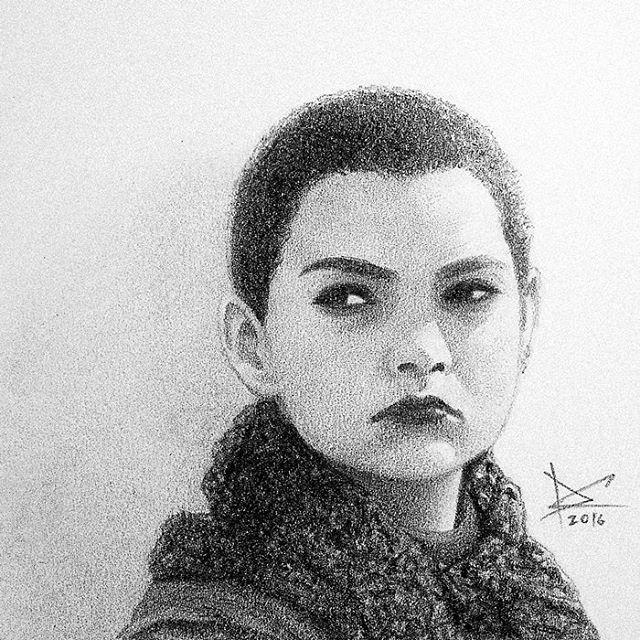 Portrait of the day... I've tried to do my best. : ) @briannahilde #drawing #fanart #negasonic #negasonicteenagewarhead #deadpool #deadpoolmovie #briannahildebrand