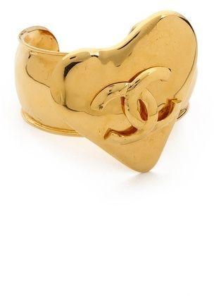 What Goes Around Comes Around Vintage Chanel Round Heart Bracelet