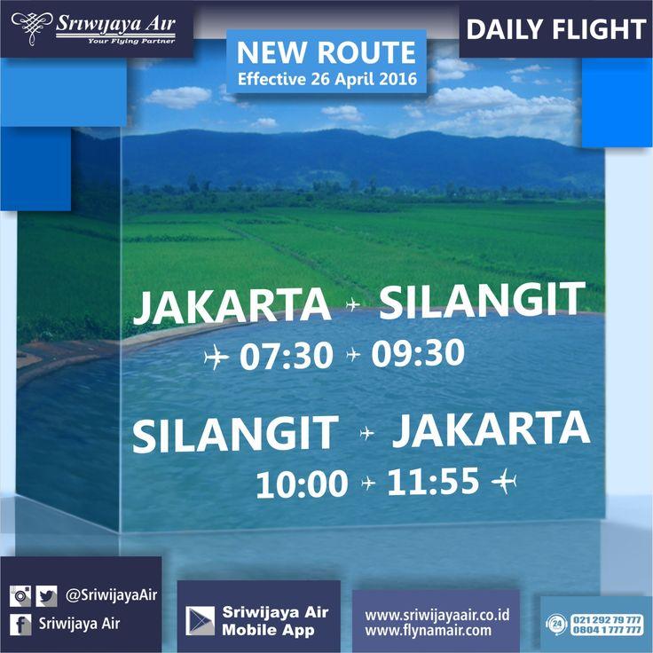 Ayo terbang ke Silangit dan kunjungi beragam destinasi wisatanya yang sangat menarik. Rute baru Sriwijaya Air Mulai 26 April 2016 – UFN. Jakarta – Silangit ETD: 07.30 | Silangit – Jakarta ETD: 10.00. Daily Flight|Menggunakan B737-500 W | Free Baggage 20 kg | Free Snack/Meal. Book Now On : www.sriwijayaair.co.id | 021-29279777 / 0804-1-777777 | Mobile Apps : http://bit.ly/sriwijayamobile | Kantor Penjualan Sriwijaya Air Group di Seluruh Indonesia | Travel Agent Kepercayaan Anda.