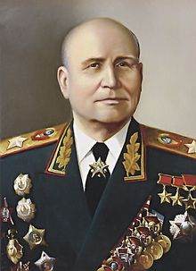 Ivan Stepanovich Konev (Russian: Ива́н Степа́нович Ко́нев; 28 December [O.S. 16 December] 1897 – 21 May 1973), was a Soviet military commander, who led Red Army forces on the Eastern Front during World War II, retook much of Eastern Europe from occupation by the Axis Powers, and helped in the capture of Germany's capital, Berlin.