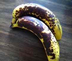 According to Japanese Scientific Research, full ripe banana with dark patches on