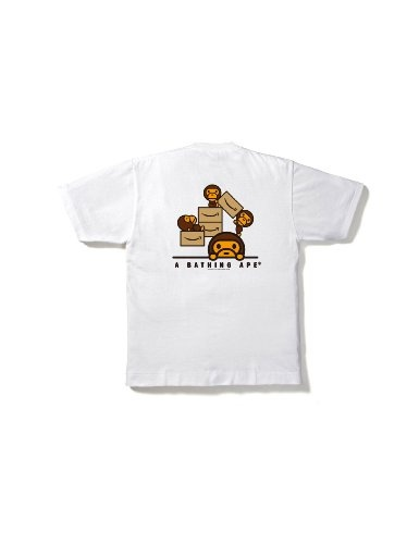 """Limited edition BAPE/Amazon Japan t-shirt (this is the back). The front is the yellow arrow part of the Amazon logo without the word """"Amazon"""". ¥6,090 (but they won't ship to the USA -- it's good to have friends in Japan)."""
