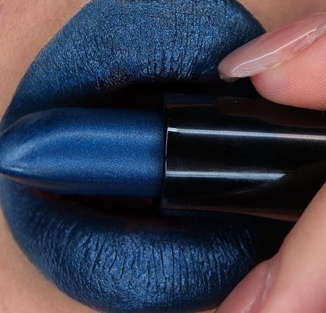 'Denim'  Everything you've ever wanted in a blue lipstick! #perlees http://ift.tt/1YQO1Cm  Swatched by @ruartistry by limecrimemakeup