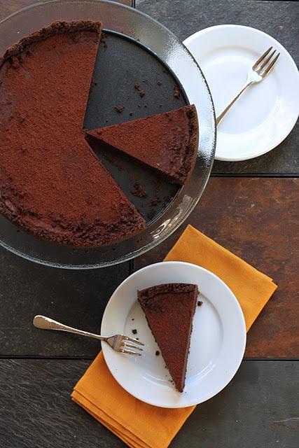 Dark Chocolate Truffle Tart - chocolate explosion