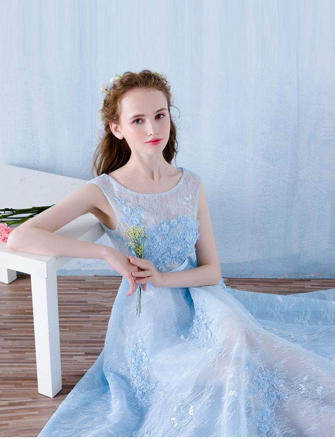 1950s Vintage Inspired Style Charming Lace Prom Formals Dress