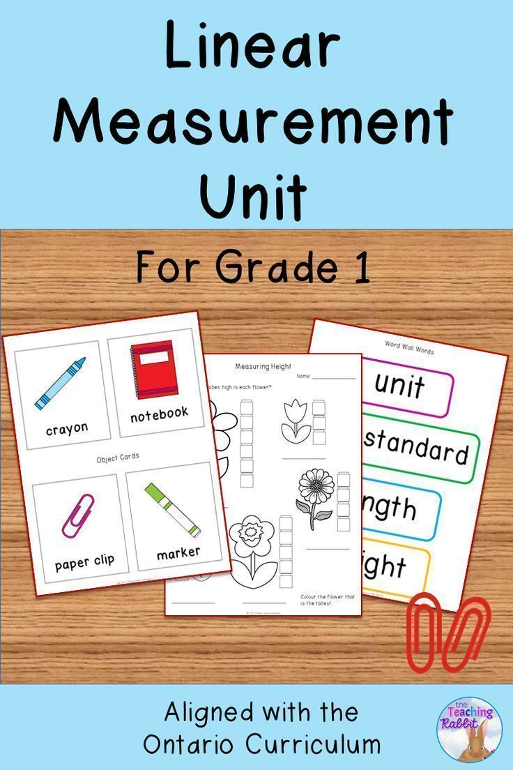 This Linear Measurement Unit for Grade 1 is based on the Ontario Curriculum and includes lesson ideas, activities, worksheets, a non-standard measurement center, and a test.