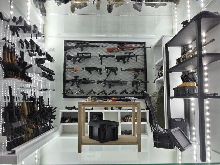 A 1 16 Scale Gun Room Gun Rooms Pinterest Awesome