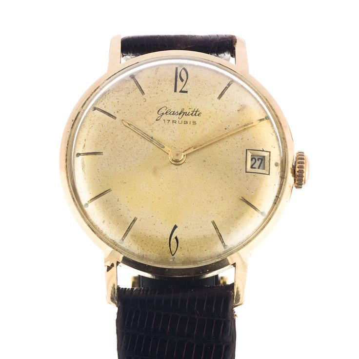 Glashütte 69.1 watch in it's classical round shape