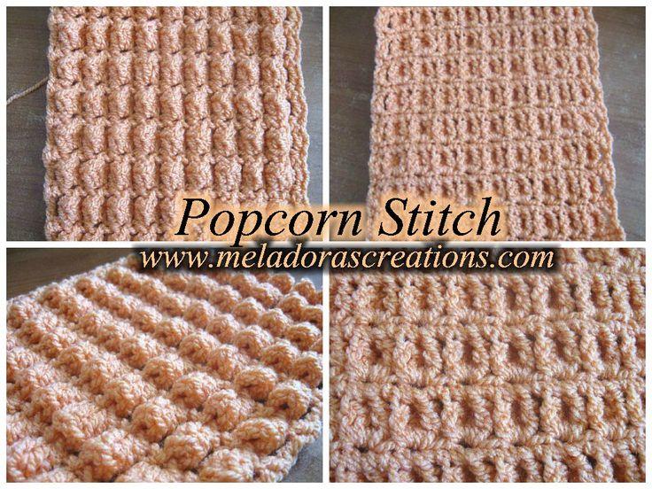 The Popcorn Stitch – Row and Round - Free Crochet Pattern
