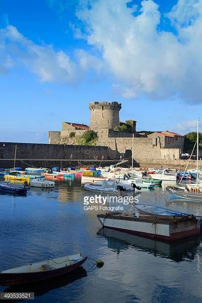 12-22 Ciboure, France - August 27, 2013; small fishing boats in... #ciboure: 12-22 Ciboure, France - August 27, 2013; small… #ciboure