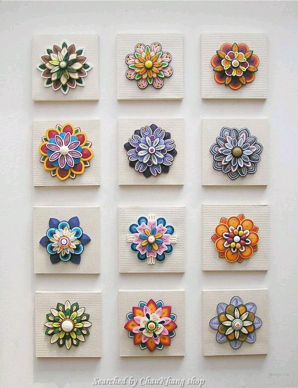 Unknown artist - Quilled decorative circles pictures (Searched by ChauKhang)