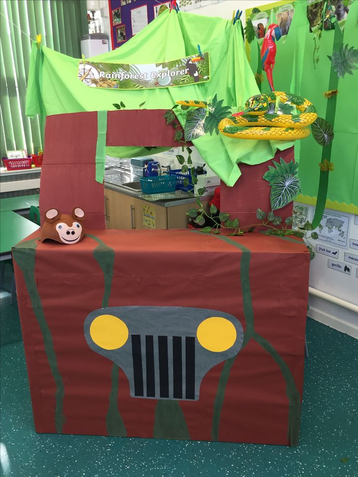 Jungle buggy. The Amazon rainforest role play area