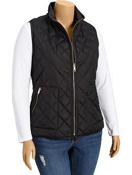 Women's Plus Quilted Zip-Front Vests | Old Navy