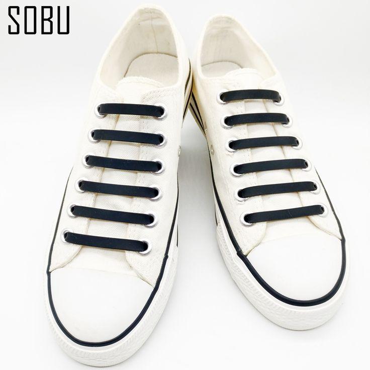 16 Unids/lote Nuevo Sin Atar Cordones de Los Zapatos Cordones de Los Zapatos Creativos de Silicona Para Unisex Mujeres Zapatillas de Silicona Elástica Cordón de Zapato Todo Sneaker K052