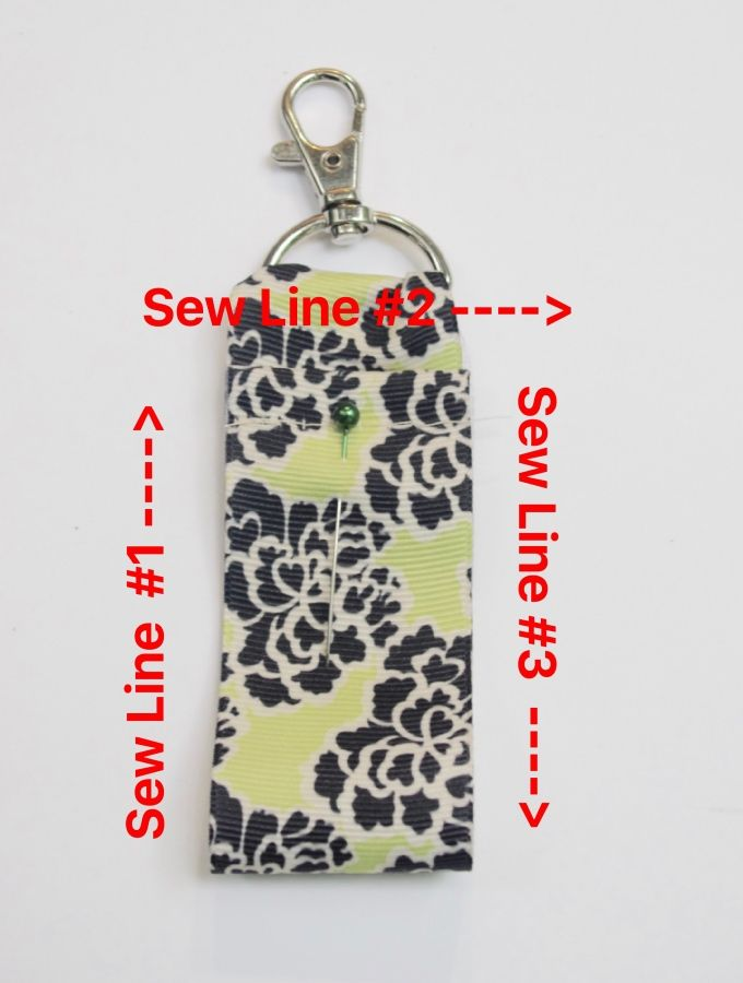 Diy Clip On Ribbon Lip Balm Holder Lip Balm Holder Chapstick Holder Beginner Sewing Projects Easy