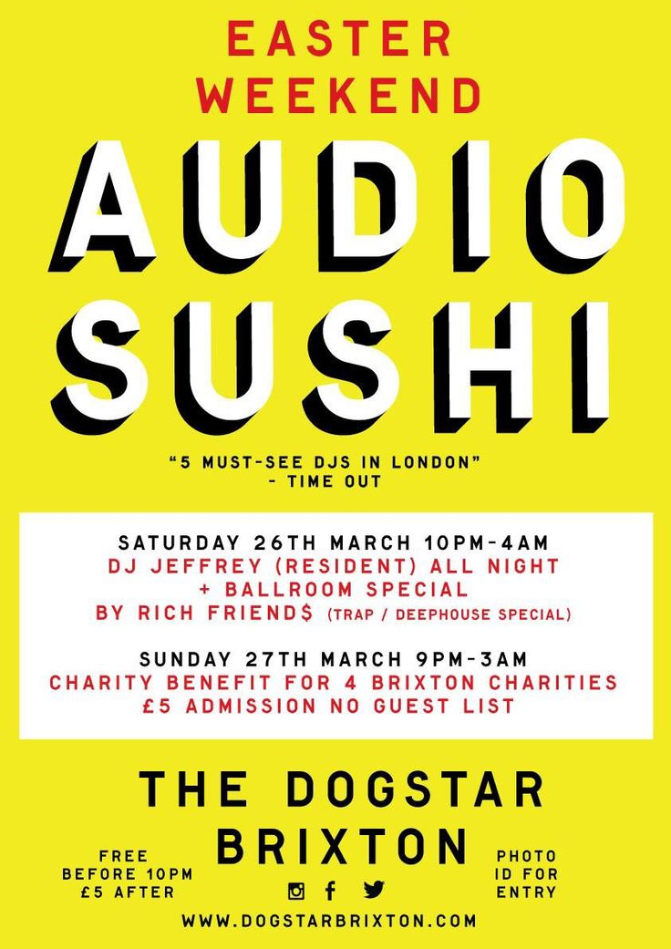 This Easter at the Dogstar Brixton London