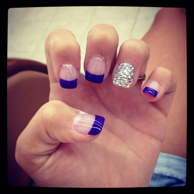 Blue Prom Nails French Tip: Best 25+ Dance Nails Ideas On Pinterest