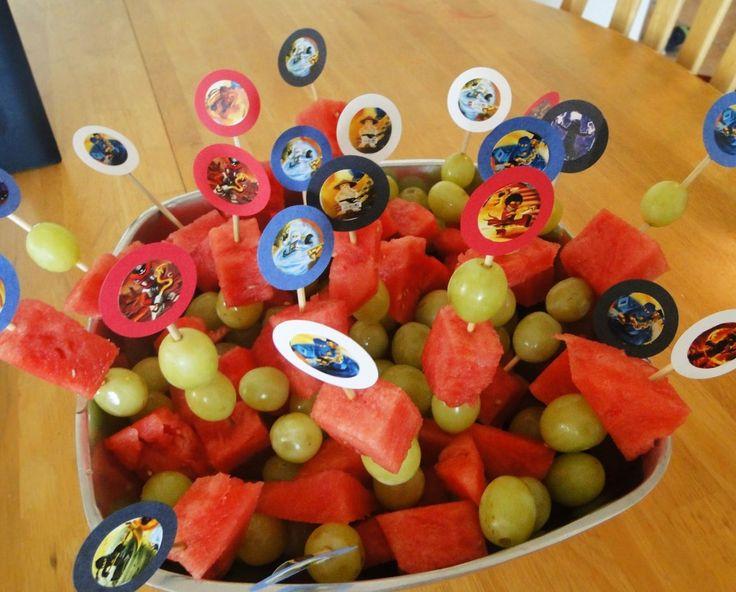 Ninjago Birthday Party Ninjago fruit arrangement  #ninjago #party