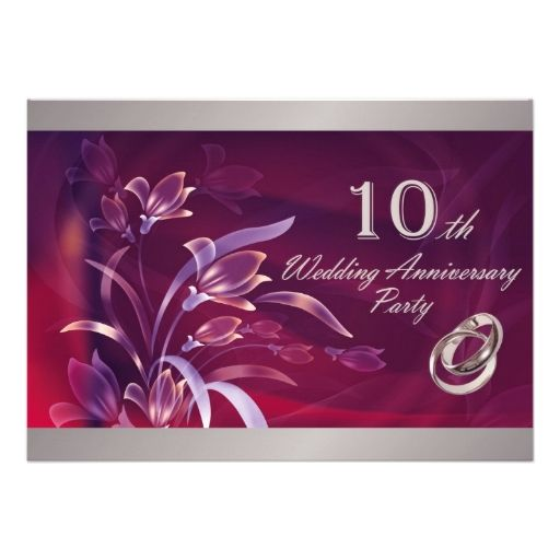 687 best images about 10th Anniversary Party Invitations on – 10th Wedding Anniversary Party Invitations