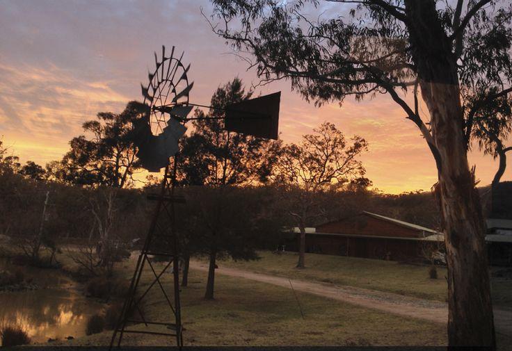 Sunrise over Megalong Valley Farm